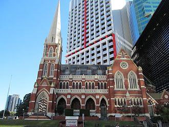 Albert Street Uniting Church - Image: Brisbane CBD albert st uniting