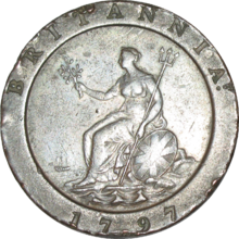 British pre-decimal twopence 1797 reverse.png