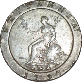 Twopence (British pre-decimal coin) - Image: British pre decimal twopence 1797 reverse
