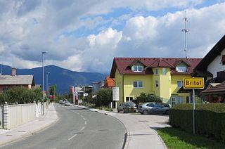 Britof Place in Upper Carniola, Slovenia