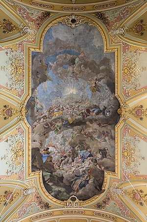 The Worship of the Lamb - Ceiling fresco in Brixen Cathedral by Paul Troger (painted 1748-50)