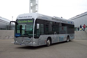 Fuel cell vehicle - Mercedes-Benz fuel cell bus.