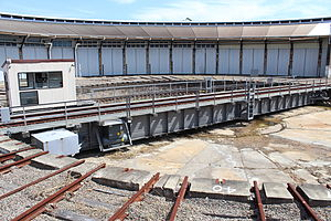 Broadmeadow Locomotive Depot - Image: Broadmedow Loco Depot No.2 Turntable