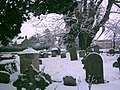 Broadwell churchyard in snow Feb. 8th 2007 - geograph.org.uk - 356977.jpg