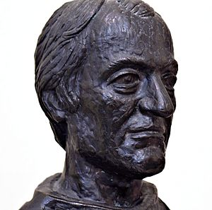 Gabriel Richard - Bronze bust at the tomb of Fr. Gabriel Richard inside Ste. Anne de Detroit Church.