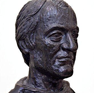 Gabriel Richard - Bronze bust at the tomb of Fr. Gabriel Richard inside Ste. Anne de Detroit Church.