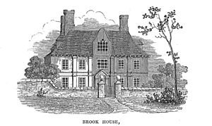 George Lipscomb - Brook House, Princes Risborough, illustration from The History and Antiquities of the County of Buckingham (1847) by George Lipscomb