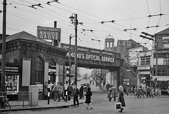 Bruce Grove railway station - The station approach in 1961