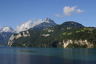 Niederbauen-Chulm - View from Lake Lucerne