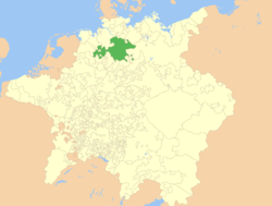 Brunswick-Lüneburg as part of the Holy Roman Empire, c. 1648