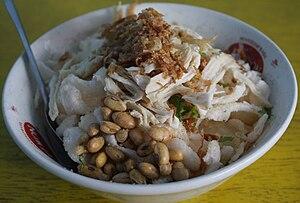 Bahasa Indonesia: Bubur ayam adalah makanan ya...