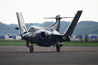 Blackburn Buccaneer - Buccaneer S.2 with wings folded, a space-saving feature typically employed by carrier aircraft.