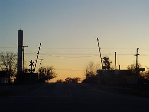 Buckholts, Texas - Buckholts railroad crossing
