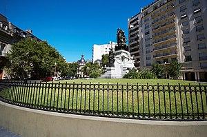 Avenida Alvear - Carlos Pellegrini square