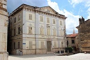 Buje - Neoclassical palace in Buje.