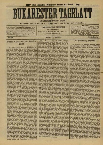 File:Bukarester Tagblatt 1890-05-16, nr. 109.pdf