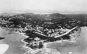 L. Ron Hubbard - Aerial view of Qingdao, China, taken in 1930, two years after Hubbard's visit