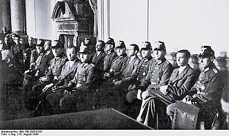 Berthold Schenk Graf von Stauffenberg - Stauffenberg at the Volksgerichtshof