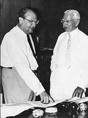 Hjalmar Schacht - Hjalmar Schacht (right) with Stafford Sands, while visiting the Bahamas in 1962