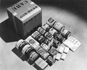 CARE (relief agency) - A CARE Package shipped in 1948.