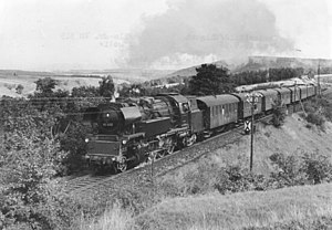 DR Class 65.10 - 65 1033 on a line in the Thuringian Forest
