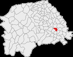 Amplasarea în cadrul județului