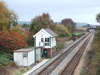 Burscough Bridge railway station - Image: Burscough Bridge signal box
