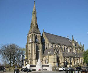 Bury - Bury Parish Church and War Memorial