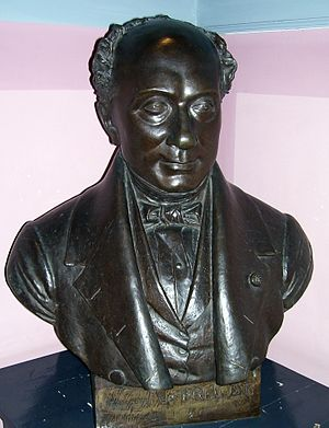 Auguste Le Prévost - Bust of Auguste Le Prévost by Jean-Marie Bonnassieux (museum of Bernay)