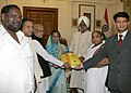 Buta Singh along with the Vice Chairman, Prof. N.M. Kamle, members and officials of the National Commission for Schedule Cast presented the Fourth Annual Report to the President, Smt. Pratibha Devisingh Patil.jpg
