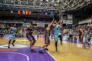 Liga Española de Baloncesto - A 2015 playoffs game between CB Valladolid and CB Breogán.