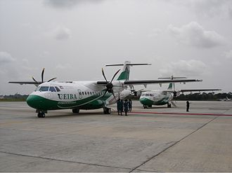 Bata Airport - CEIBA Intercontinental ATR 42s at Bata Airport