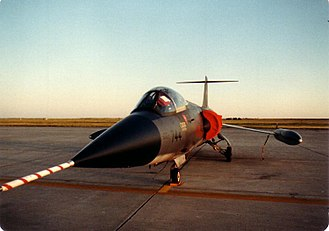 Canadair CF-104 Starfighter - 417 Sqn CF-104 at CFB Moose Jaw in 1982