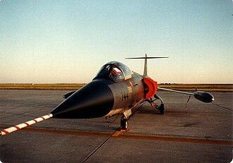 Canadair CF-104 Starfighter - 417 Sqn CF-104 at CFB Moose Jaw in 1982