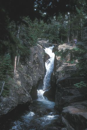 Chasm Falls - Image: CHASM FALLS, ROCKY MOUNTAIN NAT'L PARK, COLORADO