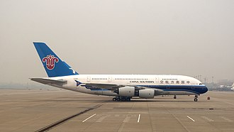 China Southern Airlines - China Southern Airlines Airbus A380-800 at Beijing Capital International Airport in 2014.