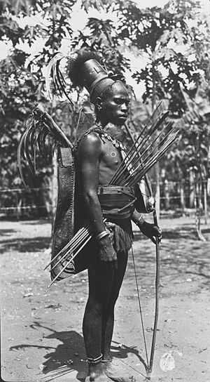 Flores - Indigenous warrior from Ende, Flores.