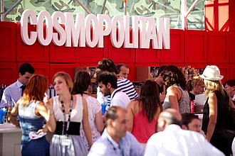 Cosmopolitan (magazine) - Cosmopolitan stand at The Brandery fashion show (Barcelona, 2010)