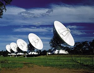 Australia Telescope Compact Array - Image: CSIRO Science Image 227 Five Antennas at Narrabri
