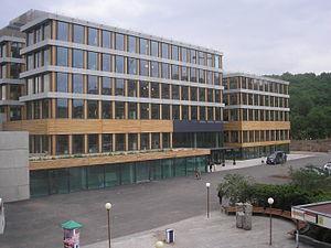 Československá obchodní banka - The administrative building of the Československá obchodní banka in Prague – Radlice by Josef Pleskot