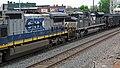 CSX Transportation - 7308 & Norfolk Southern Railway - 2674 diesel locomotives (Marion, Ohio, USA) 2 (42505342364).jpg