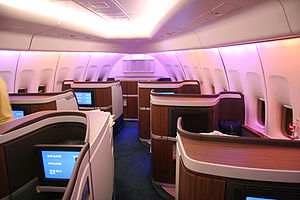 First class travel - Cathay Pacific Airlines first class suites on the Boeing 747-400