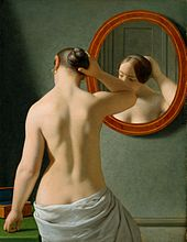 C W Eckersberg 1841 - Kvinde foran et spejl