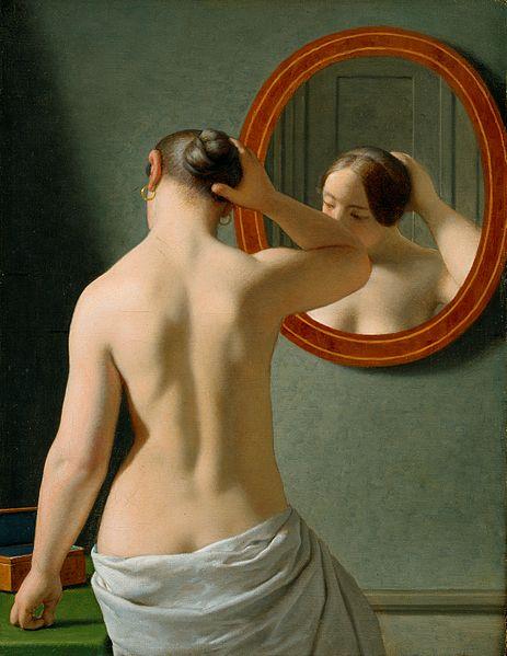1841 Christoffer Wilhelm Eckersberg. Woman Standing in Front of a Mirror Den Hirschsprungske Samling, København. 2004