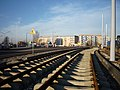 Całkowity koszt nowej linij tramwajowej (wraz z zakupem taboru) 162 ml. zł.- dotacja unijna -128 ml. zł. - panoramio.jpg