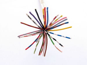 Unbalanced line - A multicore cable able to support 25 unbalanced transmission lines