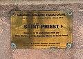 Cadran solaire équatorial de Saint-Priest, plaque (juin 2019).jpg