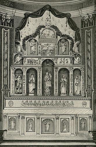 Calatafimi-Segesta - The marble polyptych inside the Mother Church