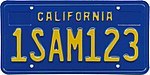 California 1SAM123 1980 Sample License Plate.jpg