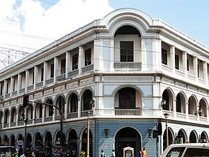 Iloilo City Proper - Eusebio Villanueva Building, one of the newly restored heritage buildings that line up the historic street of Calle Real
